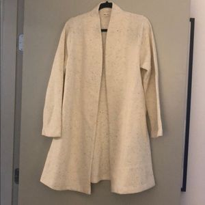 NWT Madewell Wool/Cotton Open-Front Sweater